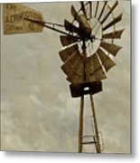 Antique Aermotor Windmill Metal Print