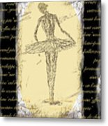 Antique Ballet Metal Print