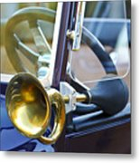 Antique Brass Car Horn Metal Print