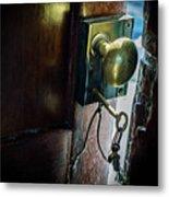 Antique Brass Doorknob Metal Print