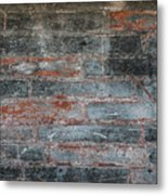 Antique Brick Wall Metal Print