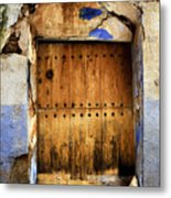 Antique Brown Door Metal Print