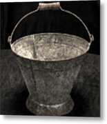 Antique Bucket For Your Modern List Metal Print
