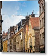 antique building view in Old Town Lille, France Metal Print