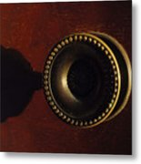 Antique Cabinet Handle And Shadow Metal Print