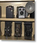 Antique Cameras Metal Print