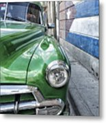 Antique Car And Mural 2 Metal Print