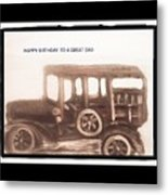 Antique Car For Dads Day Metal Print