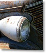 Antique Car Headlight Metal Print