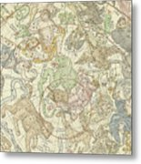 Antique Celestial Map Metal Print