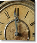 Antique Clock 6 Metal Print