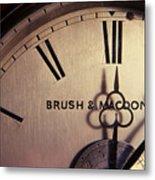 Antique Clock Metal Print