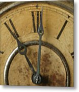 Antique Clock Metal Print