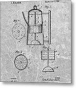 Antique Coffee Percolator Patent Metal Print