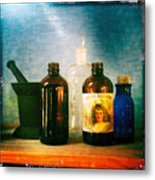 Antique Comforts Metal Print