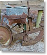 Antique Corn Planter Metal Print