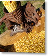 Antique Corn Sheller Metal Print
