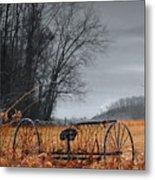 Antique Farm Equipment Metal Print