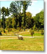 Antique Farm Equipment Metal Print by Mindy Newman