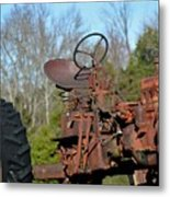 Antique Farmall Tractor 4a Metal Print