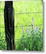 Antique Fence Post Metal Print