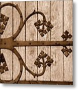 Antique Hinge Metal Print
