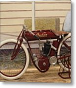 Antique Indian Motorcycle Red...   # Metal Print