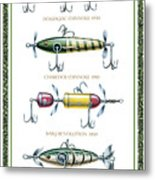 Antique Lure Panel Metal Print by JQ Licensing