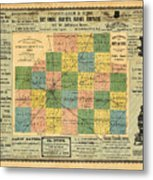 Antique Map Of The Mclean County - Business Advertisements - Historical Map Metal Print