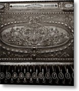 Antique Ncr - Sepia Metal Print
