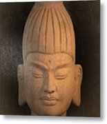 antique oil effect Buddha Burmese Metal Print