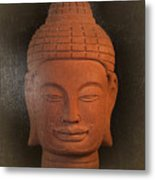 antique oil effect Buddha Khmer Metal Print