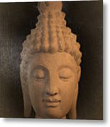 antique oil effect Buddha Sukhothai Metal Print