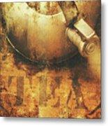 Antique Old Tea Metal Sign. Rusted Drinks Artwork Metal Print