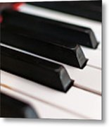 Antique Piano Keys Metal Print