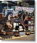 Antique Show Three Horses Metal Print
