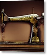 Antique Singer Sewing Machine Metal Print