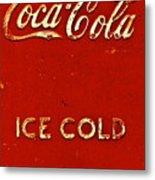 Antique Soda Cooler 6 Metal Print