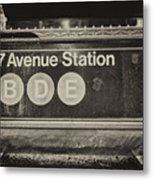 Antique Subway Entrance Metal Print by Dick Wood