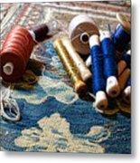 Antique Tapestry Repair  Metal Print