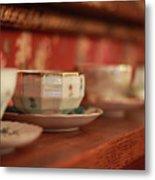 Antique Teacups Metal Print