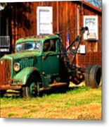 Antique Tow Truck Metal Print
