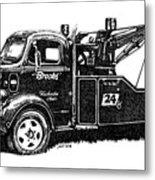Antique Tow Truck Metal Print by Sheryl Unwin