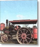 Antique Tractor - Rollag, Minnesota Metal Print