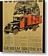Antique Truck Poster Metal Print