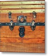 Antique Trunk Metal Print