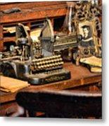 Antique Typewriter Metal Print
