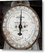 Antique Universal Household Scale Metal Print