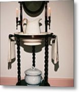 Antique Wash Stand Metal Print