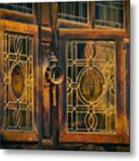 Antique Windows Metal Print